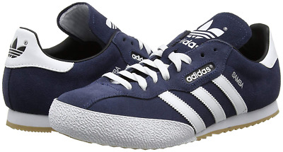 780a1c9bbcabf4 Adidas Originals Samba Super Suede Navy Trainers 019332- Free   Fast  Delivery