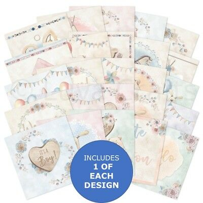 "Hunkydory The Square Little Book of Bundles of Joy 5"" x 5"" Sample Pack 25 sheets"