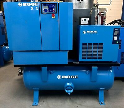 Boge SD15-350 Receiver Mounted Rotary Screw Compressor 11Kw, 58Cfm With Dryer!