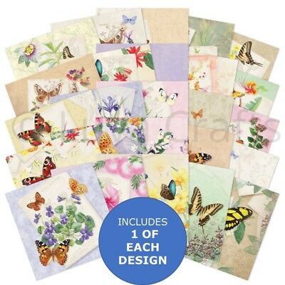 "Hunkydory The Square Little Book of Butterfly Botanica - 5"" x 5"" Sample Pack 25x"