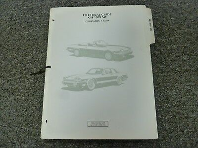 1989 jaguar xjs coupe convertible electrical wiring diagrams manual 5 3l v12