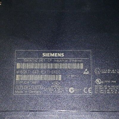 Siemens	6GK7443-1EX11-0XE0 SIMATIC S7- 400 Communications processor CP 443-1