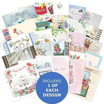 "Hunkydory The Square Little Book of All Occasions - 5"" x 5"" Sample Pack 25x"