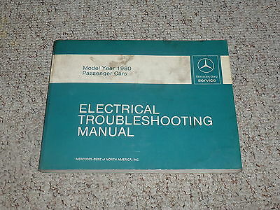 1980 mercedes benz 450sl 450 sl electrical wiring diagram troubleshooting  manual