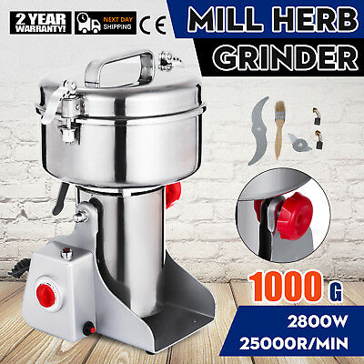 1000G Electric Herb Grain Mill Grinder Medical Clinic High Speed Pepper Grinding