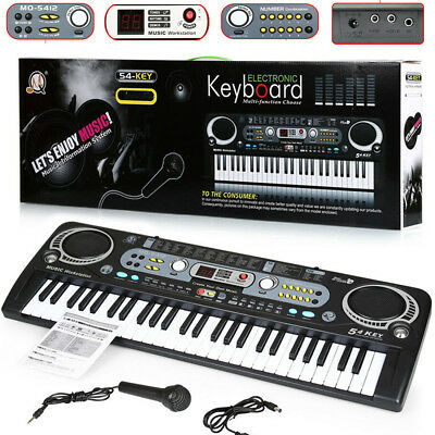 Musical Keyboard Piano 54 Keys Electronic Electric Digital Organ Beginner Adult