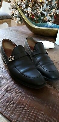 2d1ba953af5f7 GUCCI DONNIE GG Web Soft Brown Leather Loafers UK 5 US 6 - 1406 ...