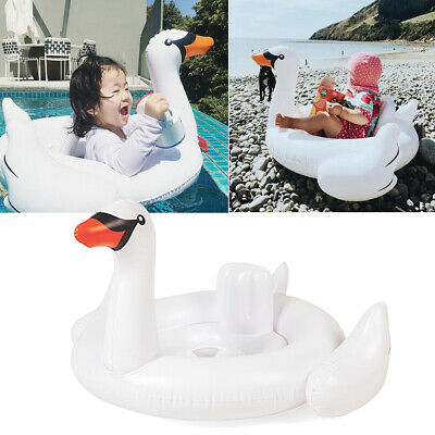 White Swan Baby Infant Swimming Float Inflatable Seats Swim Training Aid Ring UK