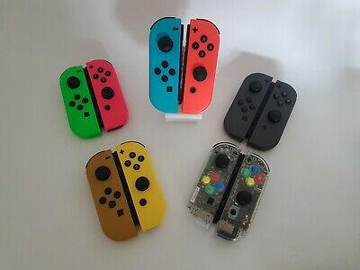 Refurbished Nintendo Switch Joy Con Controllers (Grey - Neon Red - Neon Blue)