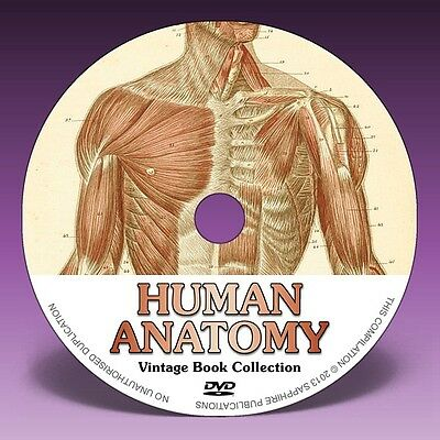 HUMAN ANATOMY - 71 Vintage Books on DVD! * Medical * Gray's * Surgical * Art