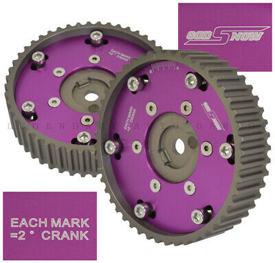 ReplacementAdjustable 2 Piece Cam Gear Shaft Wheel Purple 4G63 Engine Only Fit Mitsubishi EVO 1-8//Eclipse//Galant//Dodge Colt