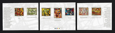 Canada Stamps — 3 Panes of 7 — Art, The Automatistes #1743@1749 — MNH
