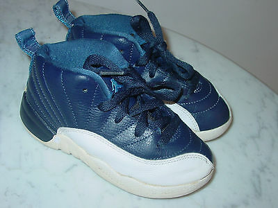 162def04df5b 2012 Nike Air Jordan Retro 12 Obsidian White University Blue Shoes! Size 9.5