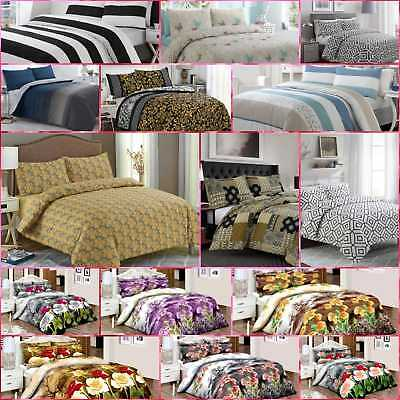 Luxury Bedding 100% Egyptian Cotton Printed Duvet Cover Sets/Quilt Set All Sizes