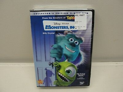 New Sealed Collector's Edition 2 Disc Disney Pixar Monsters Inc Dvd Movie