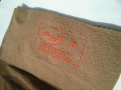 Vintage VTG bas FABIENNE sheer stockings box autoreggente noce 70den no silicone