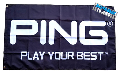 Ping Golf Flag 3x5 ft Banner Play Your Best Wall Garage Black