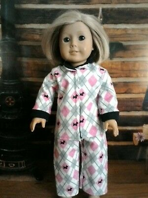 6e14d6add Scottie Dog Argyle Pajamas fits American Girl Dolls 18 inch Doll Clothes