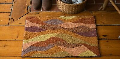 "16"" x 24"" Linen Hooked Rug Pattern - ""Maine Mountains Abstract"" *PATTERN ONLY*"