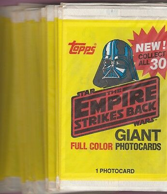 1980 Topps Empire Strikes Back Series Giant Photo Cards 36 Packs No Box