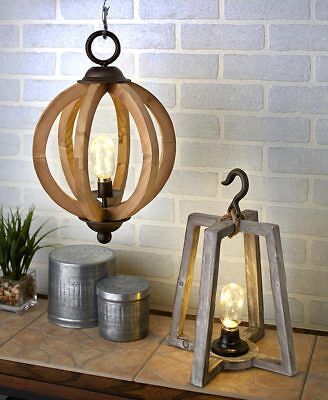 Rustic Country Star Lantern Table Lamp Brown By Collections Etc