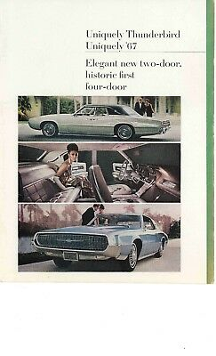 1967 Ford Thunderbird Print Ad Art Vintage 1960 S Green 4 Door Blue 2 Door Photo