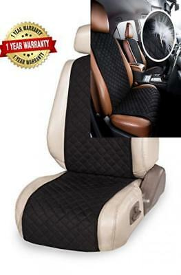 Premium Car Seat Cover Protector Cushion - Fits Most Cars, Truck, SUV, or Van -
