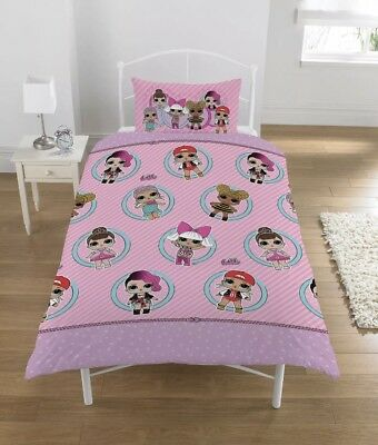 LOL Surprise Collectible Reversible 2 Sided Kids Design Single Duvet Cover Set