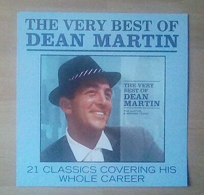 """DEAN MARTIN -Promotional 12"""" x 12"""" Card (Flat) VERY BEST OF (ideal for framing)"""