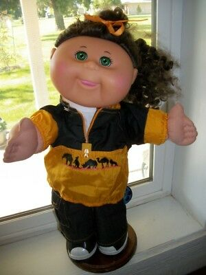 Cabbage Patch Kids Girl W 7 Pc Set Safari Jeans  Shirt Jacket Shoes  Backpack  +