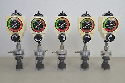 Lot of 5 Ohmeda 200 Wall Continuous Vacuum Regulator 0-200 mmHg