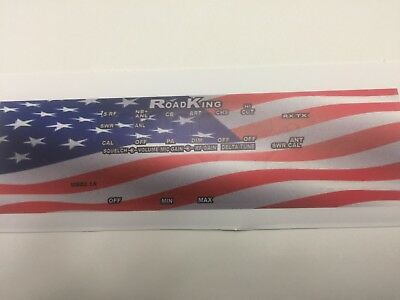 RoadKing 5640 CB Radio Face Plate Decal