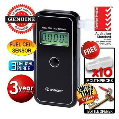 AlcoSense Stealth Personal Fuel Cell Breathalyser Andatech Alcohol Breath Tester