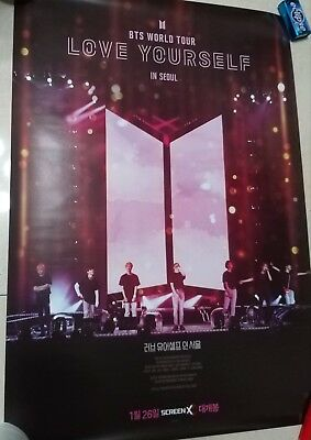 korea k pop BTS Love Yourself in Seoul movie poster