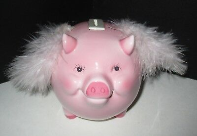Pink When Pigs Fly Piggy Bank San Francisco Music Box Co Chinese Year of the Pig