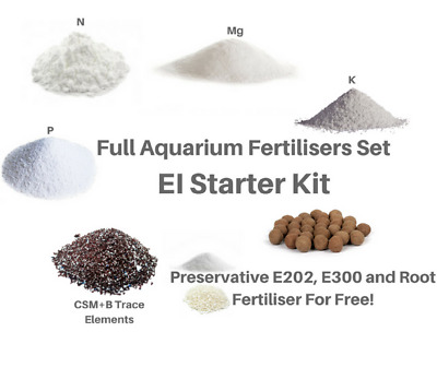 EI Starter Kit Aquarium Plants Fertiliser Full Set For 250 Days KH2PO4 K2SO4 KNO