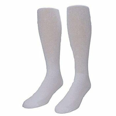 MDR Diabetic Over The Calf Length Crew Socks (12 Pair Pack) Seamless Cotton...
