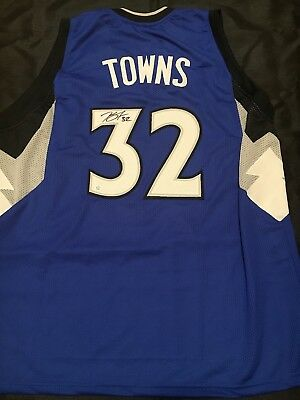 211fad6e4 Karl Anthony Towns Autographed Signed Jersey COA Minnesota Timberwolves