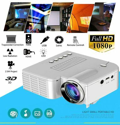 UC28 LED 3D Mini TV Home Cellphone Media Projector 1080p