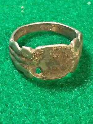 ancient roman  silver ring, 1st-3rd Century, AD