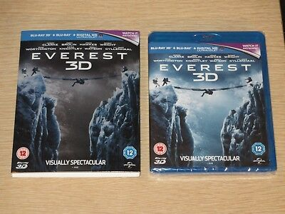 EVEREST 3D Blu-ray + Blu-ray + Digital HD (UK) w/ Slipcover Region Free NEW