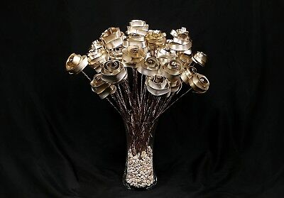 5 Forever Silver-plated Roses #76 Steampunk Anniversary Valentine's Mother's Day