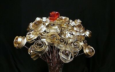 12 Sweet Silver-plated Roses #76 Steampunk Anniversary Valentine's Mother's Day