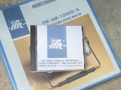 IFR1200 & IFR500  Service manuals on CD. High resolution TIFF files.