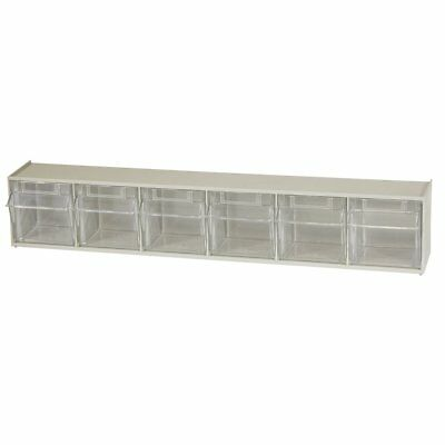 Akro-Mils 06706 TiltView Horizontal Plastic Storage System with Six Tilt Out Bin