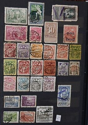 Latvia 1918 - 1939 assorted stamps