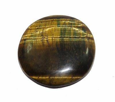 100% Natural Brownish Fiery 35.10 Ct Round Shape South African Tiger's Eye