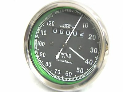 2x Of Classic Smiths Speedometer Speed 0-120 Mph-Replica For Royal Enfield