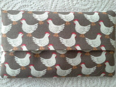 Tissue Holder Pocket Handbag Travel Chickens Handmade