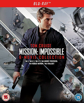 MISSION IMPOSSIBLE COLLECTION 1-6 BLURAY Ghost Protocol Rogue Nation Fallout NEW